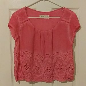 Abercrombie & Fitch Orange Boho Style Crop Top